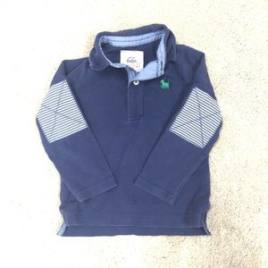 Mini Boden Sz 2-3Y Boys Elbow Patch polo shirt